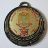 Medalii Romania, An: 1999 - MEDALIE BRIGADA 4 VANATORI DE MUNTE 30 ANI 1969-1999