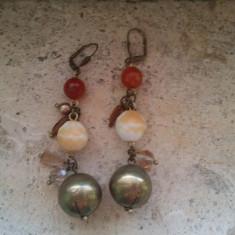 Cercei cu pietre de dama multicolori by Furla - Cercei inox