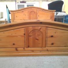 Pat de dormitor din lemn masiv sculptat - Pat dormitor