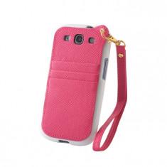 Husa tip buzunar pentru Samsung Galaxy S5 - Culoare: Roz (cod produs: GSM005197) - Husa Telefon