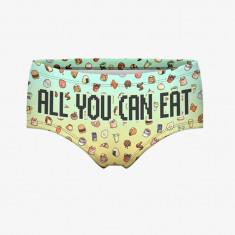 Chiloti Underwear Low Waist All You Can Eat Fasion Chilot Sexy 3D Print - Chiloti dama, Culoare: Din imagine, Marime: One size