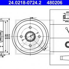 Tambur frana FORD FIESTA Mk III 1.1 - ATE 24.0218-0724.2 - Saboti frana auto