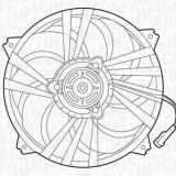 Ventilator, radiator PEUGEOT 307 2.0 HDi 90 - MAGNETI MARELLI 069422292010 - Electroventilator auto