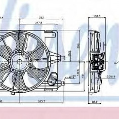 Ventilator, radiator DACIA LOGAN pick-up 1.4 - NISSENS 85708 - Ventilatoare auto