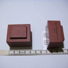 Transformator retea incapsulat montare cablaj pcb 2 x 9V 3.2VA