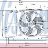 Ventilator, radiator PEUGEOT 206+ 1.4 i - NISSENS 85007 - Electroventilator auto