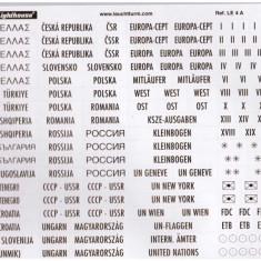 Etichete autocolant aurii EUROPA pentru clasor/album timbre