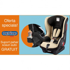 Scaun Auto Viaggio1 Duo Fix K + Suport Pahar PROMO Sand - Scaun auto bebelusi grupa 0+ (0-13 kg) Peg Perego