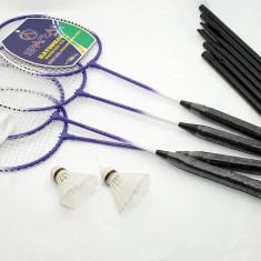 Set badminton Spartan - 4 persoane - 4 rachete, fileu si 2 fluturasi