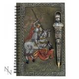 Set agendă cu pix cu simboluri medievale Cavalerul cuceritor