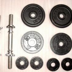 Set de 2 haltere Kettler Fonta 12 KG - 4 x 2, 5 kg + 4 X 0, 5 kg pret / ambele, 12, 5