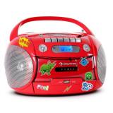 Auna Boomheart, radio recorder portabil, CD, USB, MP3, baterii, set de autocolante - CD player