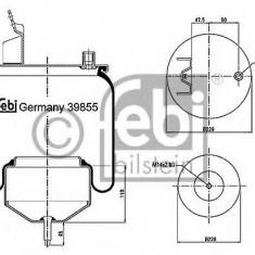Burduf, suspensie pneumatica VOLVO FH 12 FH 12/340 - FEBI BILSTEIN 39855