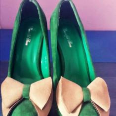 Pantofi casual/office - Pantof dama, Marime: 37 1/3, Culoare: Verde
