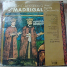 LP: CORUL MADRIGAL-DOCUMENTE ALE CULTURII MUZICALE VOCALE IN ROMANIA/VOL.2(1977) - Muzica Corala, VINIL