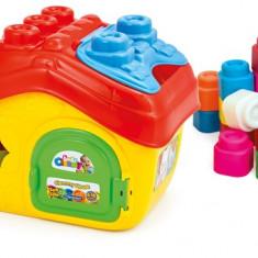 Cuburi Clemmy Casa + Cuburi - Jucarie pentru patut Clementoni