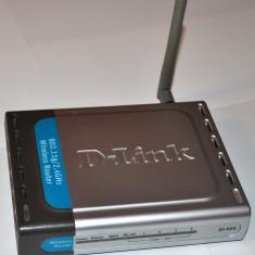 Router wireless G D-Link dl-524 cu alimentator ac, cablu lan si accesorii