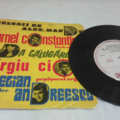 DISC VINIL MELODII DE ALEX.MANDY AURELIAN ANDREESCU, ANDA CALUGAREANU EDC 10.384 - Muzica Pop