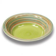 Farfurie pentru supa Nava ceramica diametru 21 cm verde - Portelan