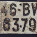 TABLITA DE INMATRICULARE MOTORETA JUD. BRASOV - Metal/Fonta, Ornamentale
