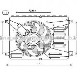 Ventilator, radiator FORD MONDEO IV Turnier BA7 PRODUCATOR AVA QUALITY COOLING FD7556