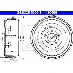 Tambur frana PEUGEOT 806 221 PRODUCATOR ATE 24.0225-5003.1