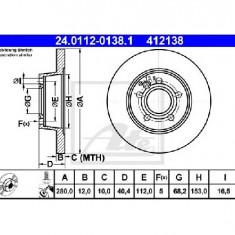 Disc frana VW TRANSPORTER CARAVELLE Mk IV bus 70XB 70XC 7DB 7DW PRODUCATOR ATE 24.0112-0138.1 - Discuri frana