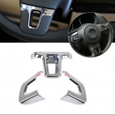 Ornamente chrome volan Vw Golf 6, Polo MK6, Jetta MK5, Bora - Ornamente interioare auto
