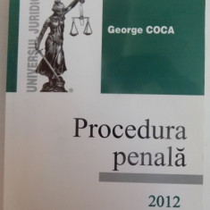 PROCEDURA PENALA de GEORGE COCA, 2012