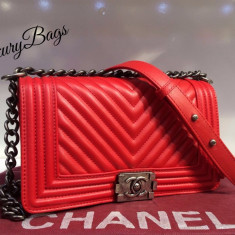 Genti Chanel Le Boy Selected Collection 2016 * LuxuryBags * - Geanta Dama Chanel, Culoare: Din imagine, Marime: Masura unica, Geanta de umar, Piele