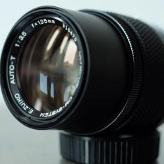 Obiectiv foto tele 135mm/3.5 Olympus Zuiko OM pt Olympus 4/3 Fuji mirrorless - Obiectiv DSLR Olympus, Manual focus, Olympus - OM