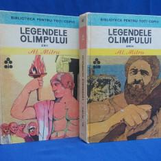 Carte mitologie - AL. MITRU - LEGENDELE OLIMPULUI * 2 VOLUME ( ZEII + EROII ) - 1978