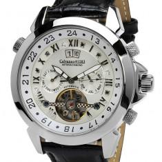Ceas automatic Calvaneo 1583 Astonia 8 diamante original - Ceas barbatesc Calvaneo, Lux - elegant, Mecanic-Automatic, Inox, Piele, Data