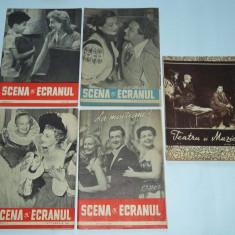 lot 5 reviste Scena si ecranul/ Teatru si muzica anii '50