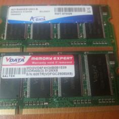 Memorie RAM laptop A-data 512MB SODIMM DDR400 400MHz PC3200