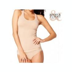 LIVRARE Tricou Modelator cu Bustieră Booby & Tummy (FĂrĂ ambalaj) - Lenjerie modelatoare dama, Bej, S, M