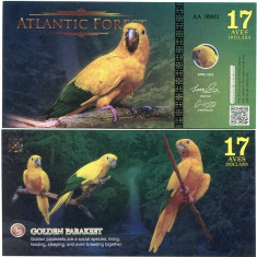 ATLANTIC FOREST- 17 AVES 2016- UNC!! - bancnota america