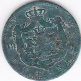 Carol I. 5 bani 1882 patina verde - Moneda Romania