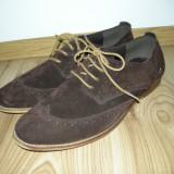 Pantofi piele intoarsa mar.42 - Pantofi barbati, Culoare: Maro