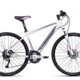 """Bicicleta dama CTM Elite 2.0, 2016, cadru 17"""", alb / gri PB Cod Produs: 037.64"""