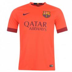 Tricou Nike Fc Barcelona Messi (deplasare) colectie noua IUNIE 2016 STOC LIMITAT - Tricou barbati Nike, Marime: XS, S, M, L, XL, Culoare: Orange, Maneca scurta, Microfibra