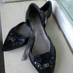 PANTOFI GEN OPINCUTE EVITA PARIS MARIME 38 INTERIOR 25 CM - Pantof dama, Culoare: Negru, Piele sintetica