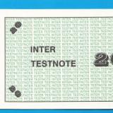 INTER TESTNOTE 20 SPECIMEN PROBA 1 - bancnota europa