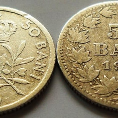 Lot / Set Monede Argint 50 Bani - ROMANIA, anii 1900-1910 - Moneda Romania