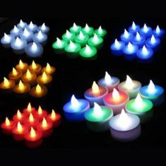 Candela cu led multicolora - Lumanare parfumata