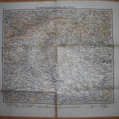 HARTA SIBIU, BRASOV, BUCURESTICRAIOVA, VIDIN, RUSCIUK, 1939 - Harta Romaniei