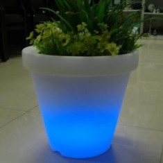 Ghiveci pentru Flori cilindric cu LED
