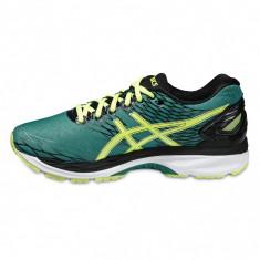 Adidasi barbati - Pantofi Alergare, Asics, Gel-Nimbus 18, Cushioning, Verde-Galben-Negru, Barbati-45 - OLN-OL10-T600N.8807|45