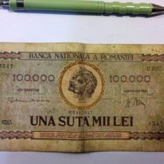 100000 LEI 1947 + BONUS 2 BANCNOTE VECHI