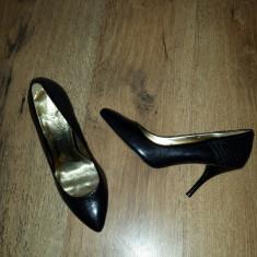 SUPER PRET! Pantofi stiletto TED BAKER originali piele manusa Sz 37 ! - Pantof dama Ted Baker, Culoare: Negru, Piele naturala